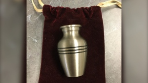 This lost urn was turned into Edmonton police. Jan. 27, 2021. (EPS)