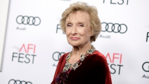 """Cloris Leachman attends the premiere of """"The Comedian"""" during the 2016 AFI Fest on Nov. 11, 2016, in Los Angeles. (Richard Shotwell/Invision/AP, File)"""
