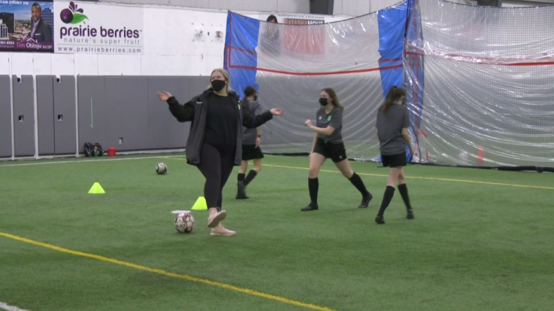 Mentoring female soccer coaches
