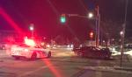 Northbound lanes on Lorne Street in Sudbury are closed, Greater Sudbury Police said Wednesday evening. (Dana Roberts/CTV News)
