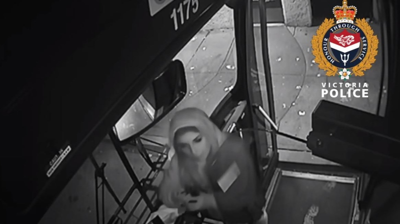 Police are searching for this woman who allegedly spat on a BC Transit driver in late October: (Victoria Police)