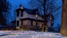 Flames are seen shooting from windows and the roof of a century home on McBeth Road in southwest Oxford on Wednesday, January 27, 2021. (Southwest Oxford Fire Dept.)