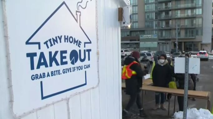 St. Mary's church in Kitchener has launched 'Tiny Home Takeout' to help feed those in need.