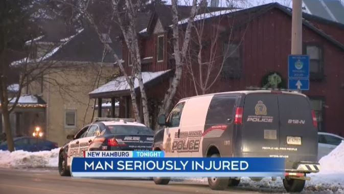 Regional police are investigating after a man suffered serious injuries during a disturbance in New Hamburg.