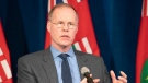 Adalsteinn Brown, dean of the University of Toronto's Public Health Department, answers questions during a news conference at Queen's Park in Toronto on Monday, April 20, 2020. THE CANADIAN PRESS/Frank Gunn