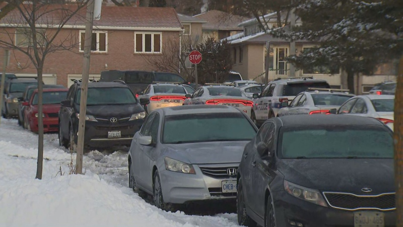 Peel police are investigating after a man barricaded himself inside a Mississauga home with a weapon Thursday morning.
