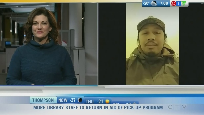 Artist Daniel says the Artbeat Studio has helped him deal with his mental health issues and keeps him connected with others. Rachel Lagacé reports