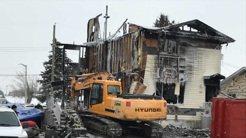 Evansburg home after fire, Jan. 27