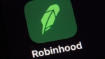 The Robinhood app on a smartphone in New York, on Dec. 17, 2020. (Patrick Sison / AP)