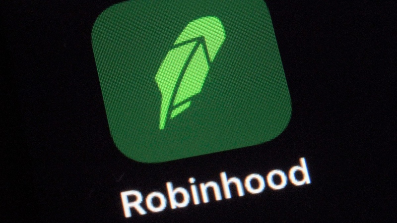 The Robinhood app on a smartphone in New York, on Dec. 17, 2020. (Patrick Sison / AP)
