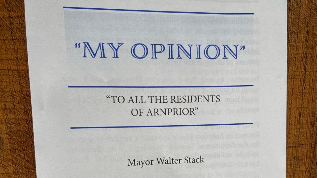 Arnprior Mayor Walter Stack