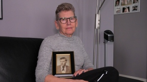 Beverley Hartnell's father Bernard died of COVID-19 after an outbreak at Santa Maria Senior Citizen's Home in Regina. (Marc Smith / CTV News)