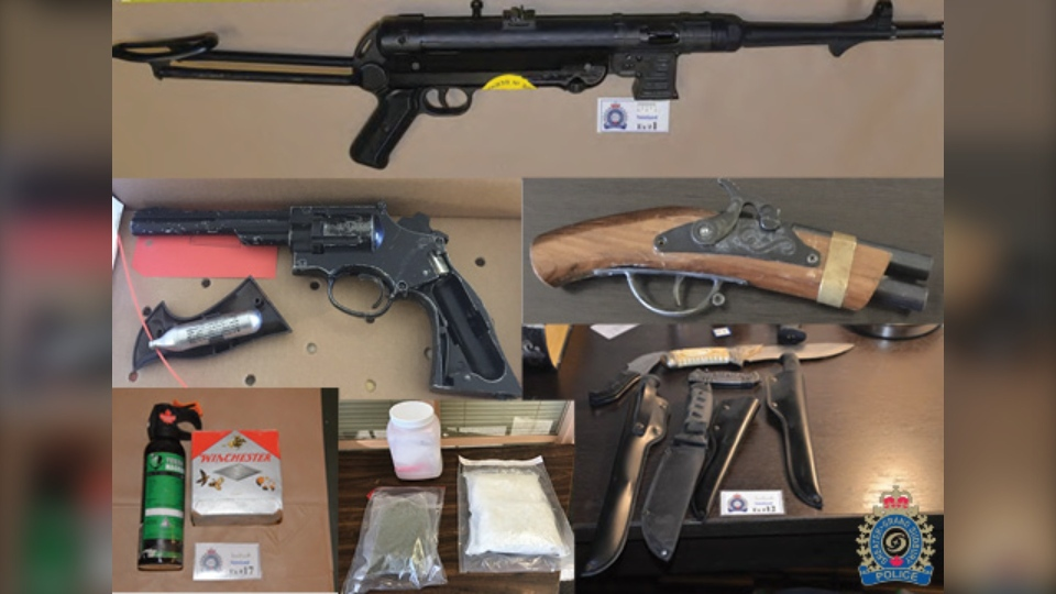 Weapons seized from a Sudbury motel room