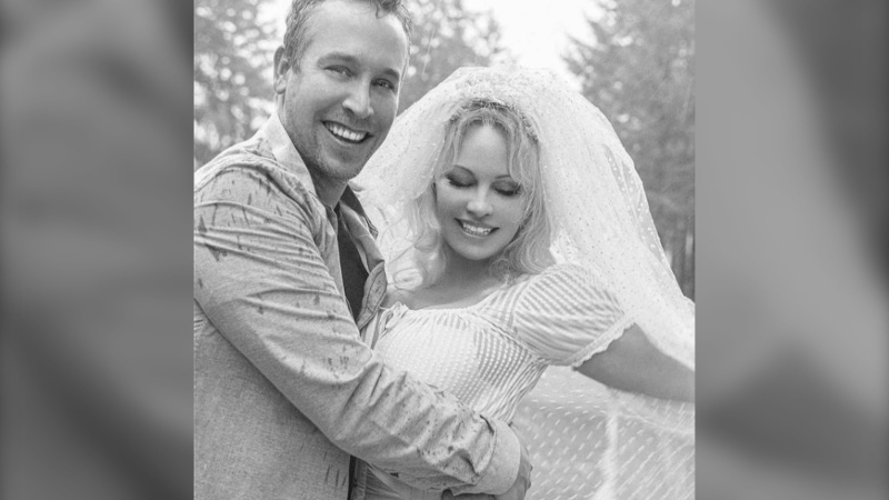 Vancouver Island-born Pamela Anderson was married on the island at her oceanfront home on Christmas Eve: (pamanderson2020 / Instagram)