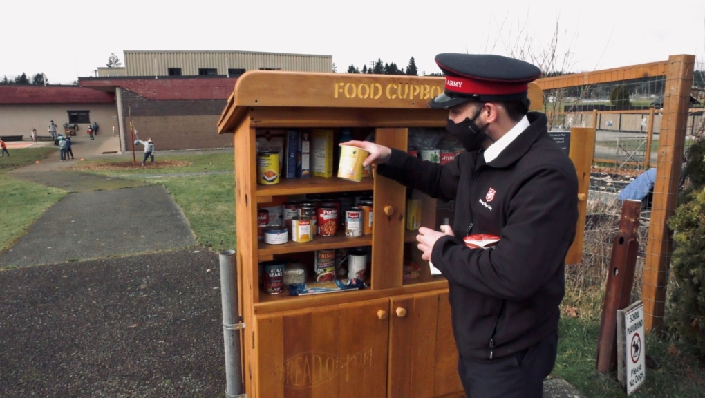 Salvation Army food cupboard