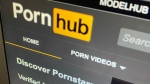 The Pornhub website is shown on a computer screen in Toronto on Wednesday, Dec. 16, 2020. THE CANADIAN PRESS