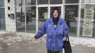 Former homeless person Chelsea Provost-Newman in London, Ont. on Jan. 30. 2021. (Brent Lale/CTV London)