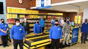 A press photo of some of some of the students in a mini-store inside the Wagar Adult Education Centre. (Courtesy of Loblaw Companies Limited)