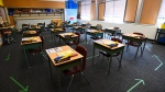 A grade six class room is shown during the COVID-19 pandemic in Scarborough, Ont., on Monday, Sept. 14, 2020. THE CANADIAN PRESS/Nathan Denette