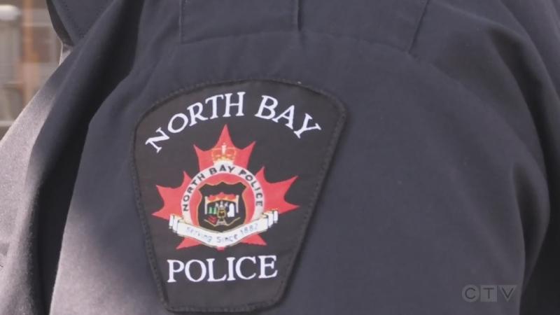 North Bay police officer. Feb. 1/21 (Eric Taschner/CTV Northern Ontario)