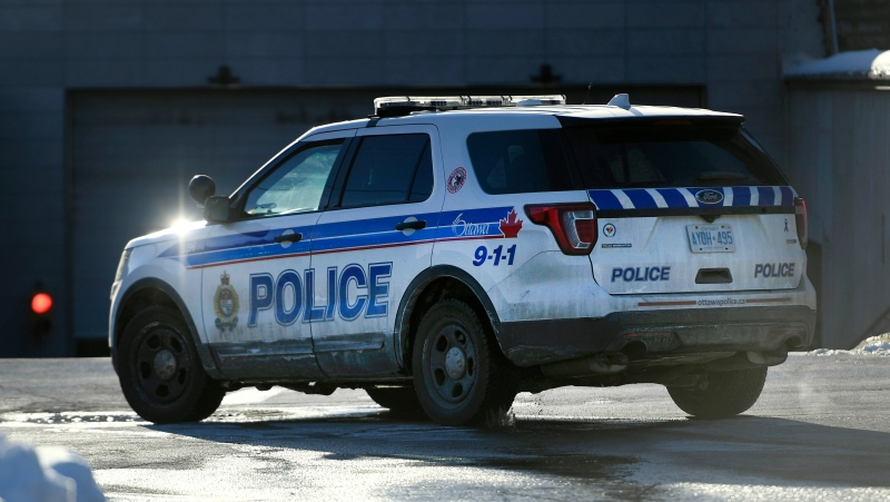 An Ottawa Police truck is seen in Ottawa, on Monday, Feb. 1, 2021.(Justin Tang/THE CANADIAN PRESS)