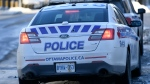 An Ottawa Police cruiser is seen near the Elgin Street police station in Ottawa, on Monday, Feb. 1, 2021. (Justin Tang/THE CANADIAN PRESS)