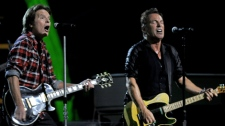 Bruce Springsteen and John Fogerty perform at the 25th Anniversary Rock and Roll Hall of Fame concert at Madison Square Garden,Thursday, Oct. 29, 2009. (AP / Henny Ray Abrams)