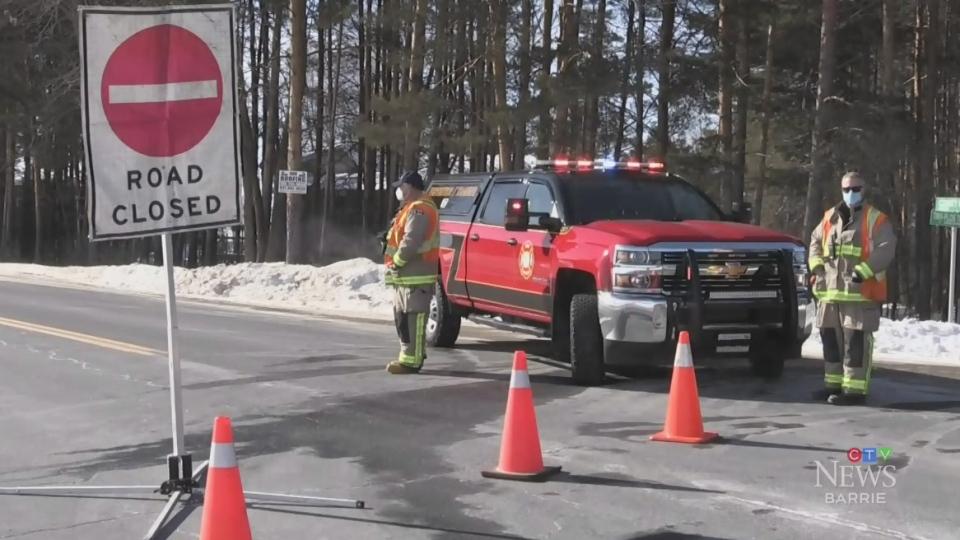 Teen seriously injured in snowmobile crash