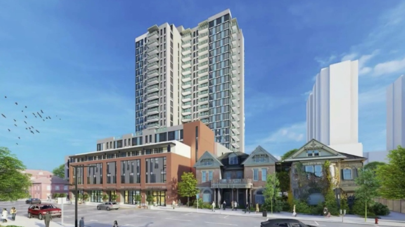 Medallion Corporation's artist rendering of new high rise complex in London, Ont. (Supplied)