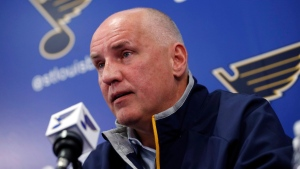 St. Louis Blues general manager Doug Armstrong, on Feb. 1, 2017. (Jeff Roberson / AP)