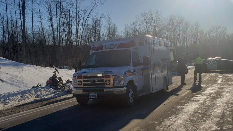 Hwy 12 snowmobile crash