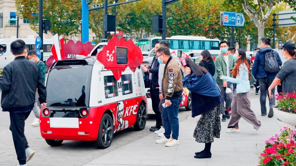 driverless KFC van
