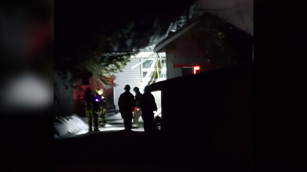 Cool Sudbury firefighter house fire silhouette