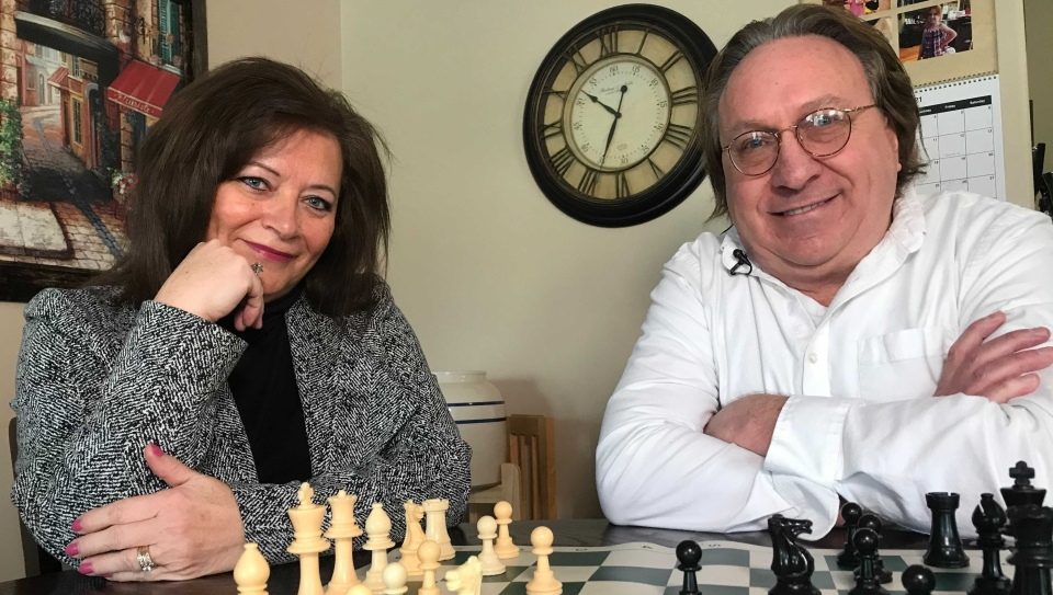Chess coaches Linda and Daniel Dupre found a way to share their classes online when the pandemic lockdowns began.