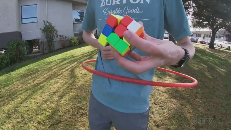 """I thought it was kind of funny, but he's actually really good!"" Adam finds out how an ordinary teenager is striving to achieve an extraordinary goal with his Rubik's Cube."