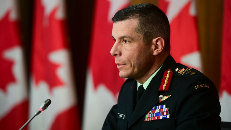 Major-General Dany Fortin, speaks during a press conference during the COVID-19 pandemic in Ottawa on Wednesday, Dec. 16, 2020. THE CANADIAN PRESS/Sean Kilpatrick