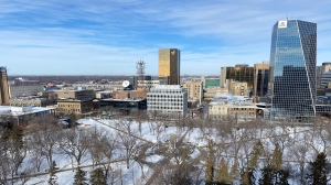 Regina's downtown is seen in this file image. (Gareth Dillistone/CTV News)