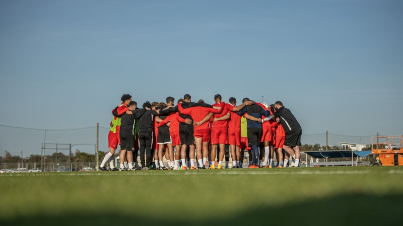 Canada men's national soccer players take part in the team's camp in Bradenton, Florida on Thursday January 21, 2021. THE CANADIAN PRESS/HO-Canada Soccer