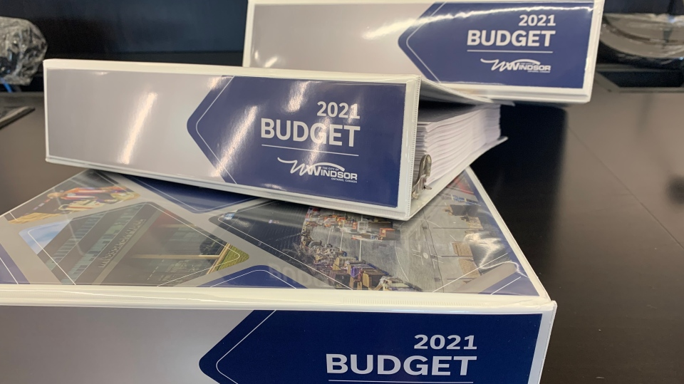 Windsor 2021 budget at city hall in Windsor, Ont. on Friday, Feb. 5, 2021. (Rich Garton/CTV Windsor)