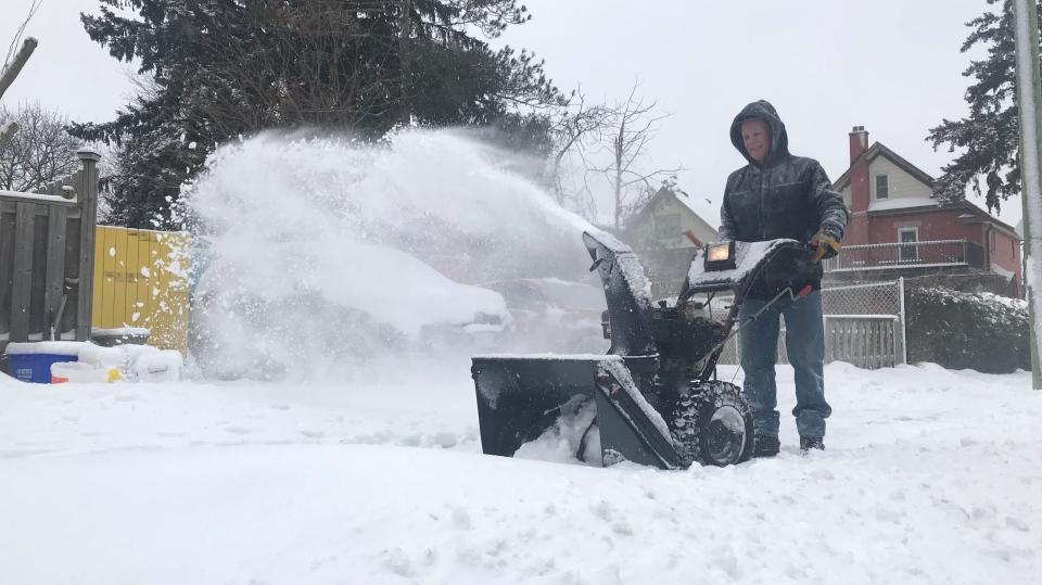 snow snowblower shovel snowfall winter cold