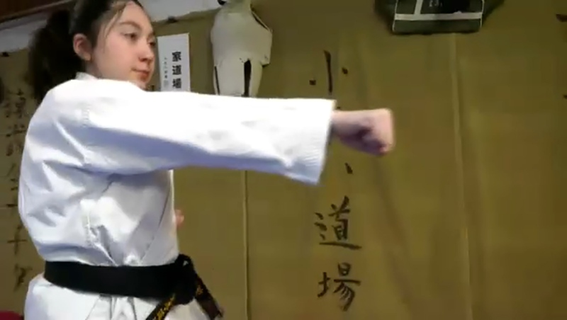 She's a martial arts expert with an eye on competing in Japan and she's our Athlete of the Week, Winter Smith