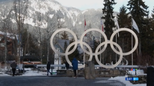 The Olympic rings in Whistler are seen in this file photo. (CTV)