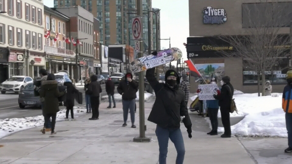 Protesters speak out against violent arrest