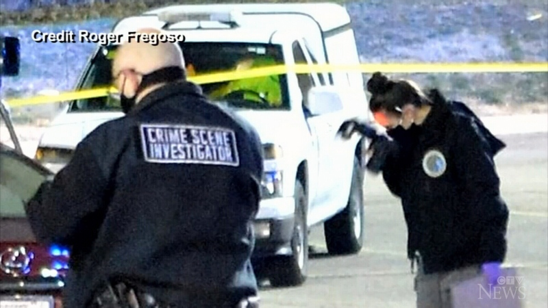 Authorities at the scene of a deadly shooting in Tennessee.