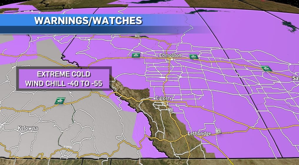 Watches and warnings for Calgary for Feb. 7, 2021.