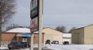 There was significant police presence at 31 Thames St. S. in Ingersoll, Ont. after a shooting on Sunday, Feb. 7, 2021. (Gerry Dewan/CTV News)