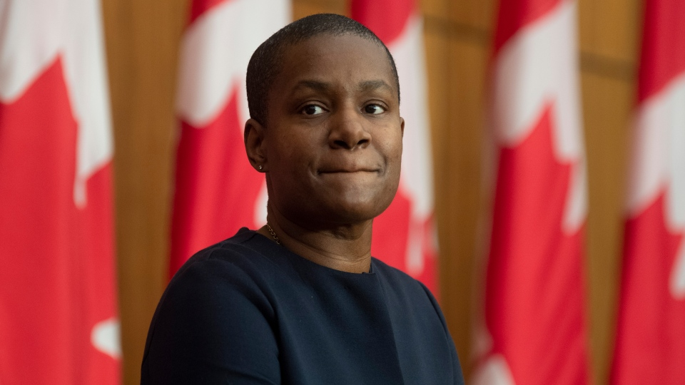 Green Party Leader Annamie Paul is seen during a news conference in Ottawa, Monday, Dec. 7, 2020. THE CANADIAN PRESS/Adrian Wyld