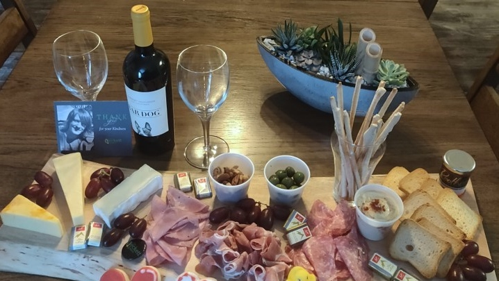 Charcuterie board to raise money for The Beckett Project, wine not included. Seen on Tuesday February 9, 2021 (Jordyn Read/CTV News)