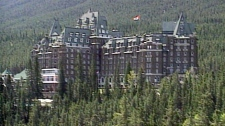 The Fairmont Banff Springs Hotel is a former railway hotel located in Banff National Park in Alberta.