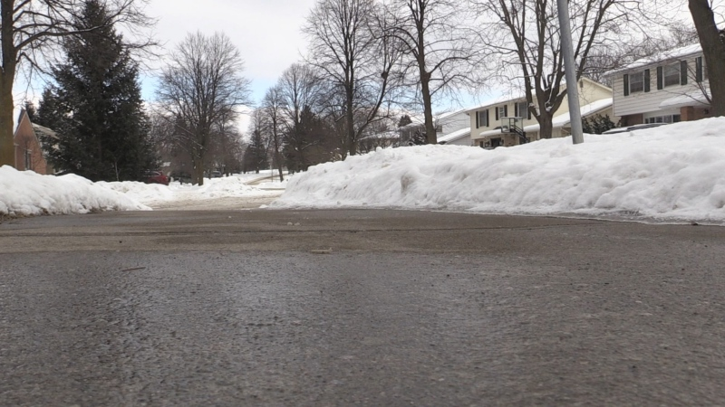 Friars Way in London, Ont. on Feb 9, 2021. (Daryl Newcombe/CTV London)
